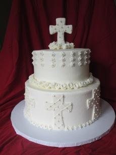 1st communion and baptism cake 002