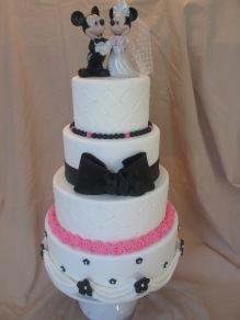 Mickey wedding cake